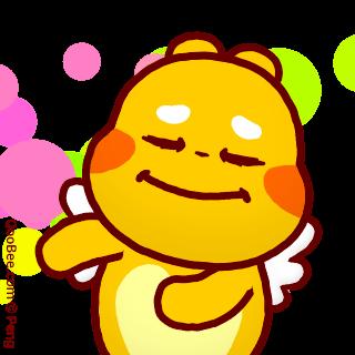 Thank you emoji of QooBee