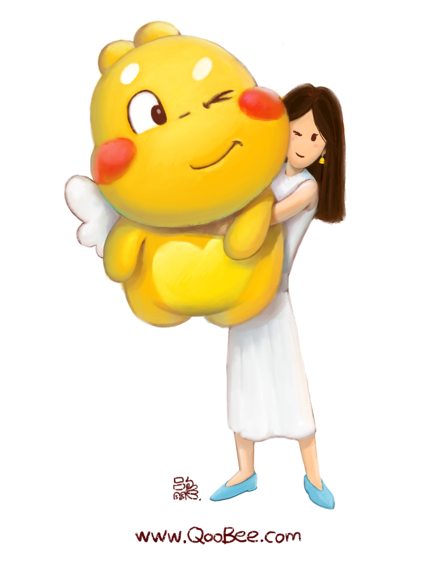 Giant Qoobee 60CM Stuffed Toy illustration