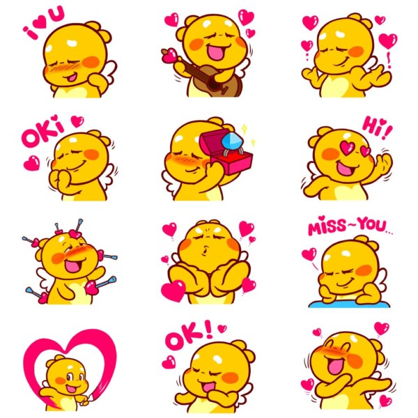 Love Emojis of QooBee Agapi