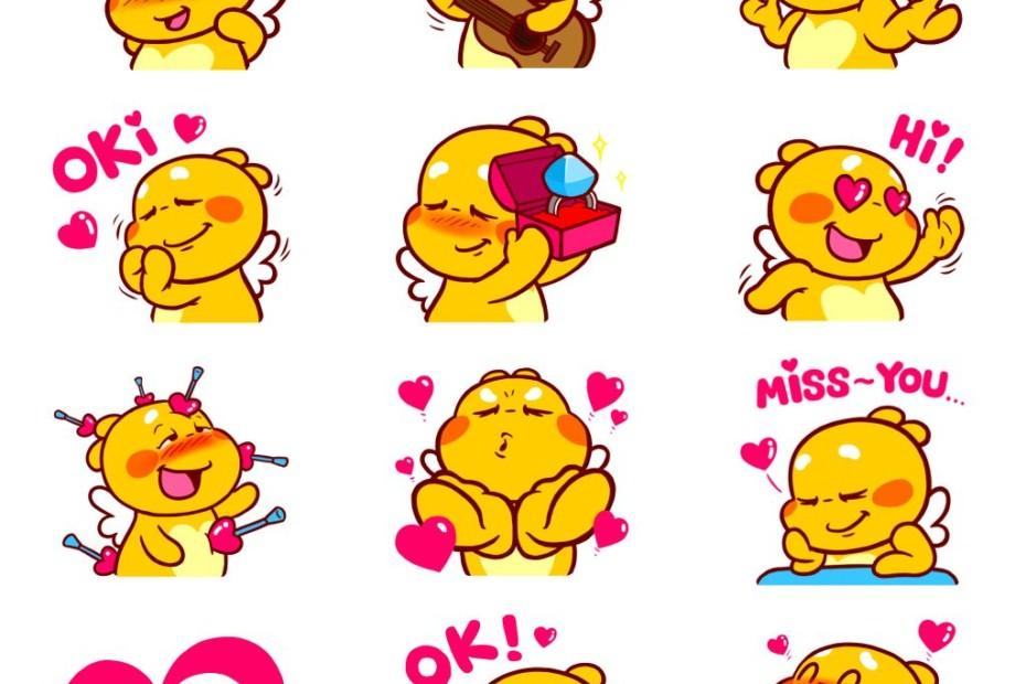 Love Emojis of QooBee Agapi