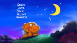 星星需要夜晚的衬托才能发光