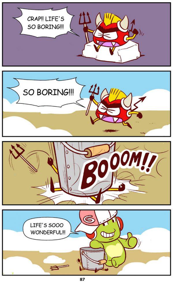 Qoobee Comics 089 – Boring and Wonerful Life