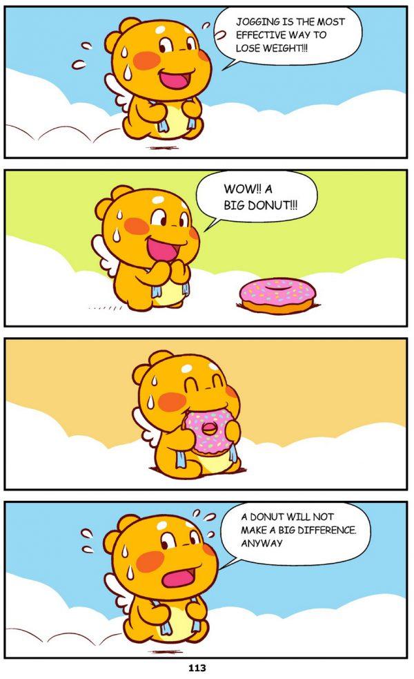 Qoobee Comics 115 – Exercise vs Eating 01