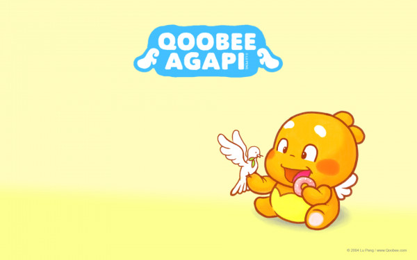 QooBee wallpaper - eating