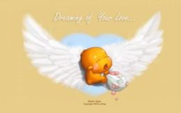 QooBee天使翅膀壁纸
