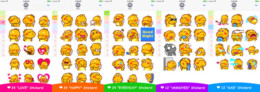 QooBee Stickers're on Apple iMessage