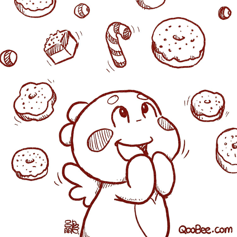 QooBee的世界每天都下糖果和蛋糕