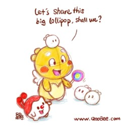 Qoobee Shares Lollipop