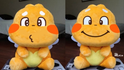 2 Expressions for the First QooBee Plush Toy