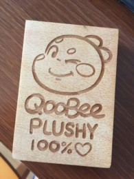 Stamp made for QooBee Plushy Packaging Box