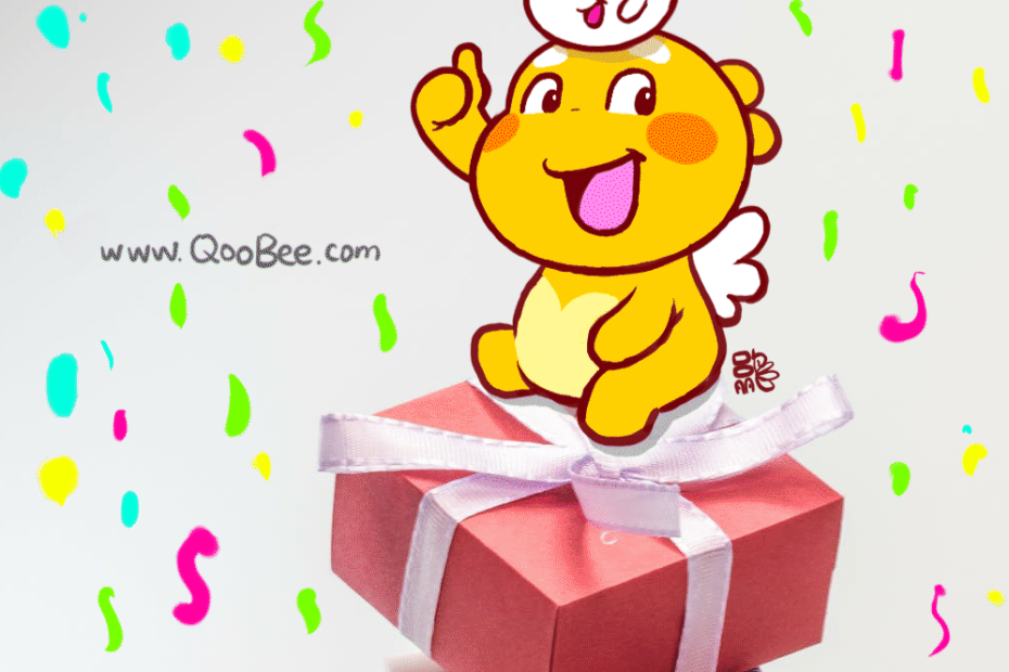 QooBee & Milky on Gift Boxes
