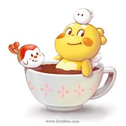 Qoobee & Friends are Having a Coffee Bath